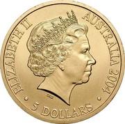 Australia 5 Dollars Olympic Games - Sydney To Athens 2004 KM# 856 ELIZABETH II AUSTRALIA 2004 5 DOLLARS coin obverse