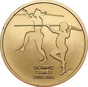 Australia 5 Dollars Olympic Games - Sydney To Athens 2004 KM# 856 OLYMPIC GAMES 2000-2004 coin reverse