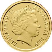 Australia 5 Dollars Petey Platypus 2009 Proof KM# 1086 ELIZABETH II AUSTRALIA 2009 IRB coin obverse