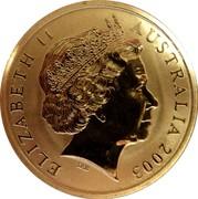 Australia 5 Dollars Rugby World Cup 2003 KM# 854 ELIZABETH II AUSTRALIA 2003 IRB coin obverse