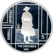 Australia 5 Dollars Russel Drysdale 2006 KM# 790 RUSSEL DRYSDALE THE DROVER'S WIFE 5 DOLLARS coin reverse