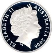 Australia 5 Dollars Sidney Nolan 2006 KM# 787 ELIZABETH II AUSTRALIA 2006 IRB coin obverse