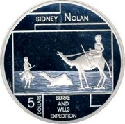 Australia 5 Dollars Sidney Nolan 2006 KM# 787 SIDNEY NOLAN BURKE AND WILLS EXPEDITION 5 DOLLARS coin reverse