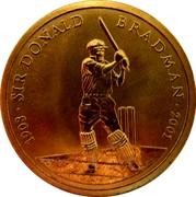 Australia 5 Dollars Sir Donald Bradman 2001 KM# 762 1908 SIR DONALD BRADMAN 2001 B coin reverse