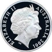 Australia 5 Dollars Spence - Nicholls and Anderson 2001 KM# 639 ELIZABETH II AUSTRALIA 2001 IRB coin obverse