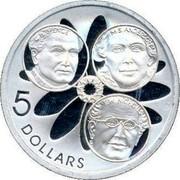 Australia 5 Dollars Spence - Nicholls and Anderson 2001 KM# 639 C.H. SPENCE M.S. ANDERSON E.W. NICHOLLS 5 DOLLARS coin reverse