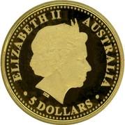 Australia 5 Dollars Sydney Harbour bridge 2007 KM# 1117 ELIZABETH II AUSTRALIA 5 DOLLARS IRB coin obverse