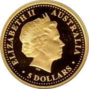 Australia 5 Dollars Sydney Opera House 2006 P Proof KM# 1014 ELIZABETH II AUSTRALIA ∙ 5 DOLLARS ∙ coin obverse