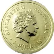 Australia 5 Dollars The Australian Kangaroo 2006 KM# 953 ELIZABETH II AUSTRALIA 5 DOLLARS IRB coin obverse