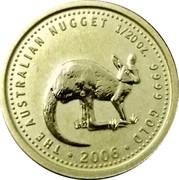Australia 5 Dollars The Australian Kangaroo 2006 KM# 953 THE AUSTRALIAN NUGGET 1/20 OZ. 9999 GOLD 2006 coin reverse