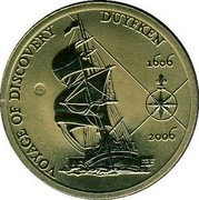 Australia 5 Dollars Voyage of Discovery 2006 KM# 813 VOYAGE OF DISCOVERY DUYFKEN 1606 2006 GZ coin reverse