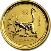 Australia 5 Dollars Year of the Monkey 2004 KM# 668 2004 1/20 OZ 9999 GOLD coin reverse