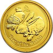 Australia 5 Dollars Year of the Rabbit 2011 KM# 1481 YEAR OF THE RABBIT P coin reverse