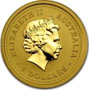 Australia 5 Dollars Year of the Snake 2001 KM# 538 ELIZABETH II AUSTRALIA 5 DOLLARS IRB coin obverse