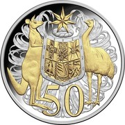 Australia 50 Cents 50 Anniversary Of Decimal Currency 2016  50 SD coin reverse