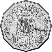 Australia 50 Cents 50 Years Decimal Currency 2016  50 SD coin reverse