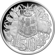Australia 50 Cents 50th Anniversary of Decimal Currency 2016 Proof 50 SD coin reverse