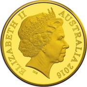 Australia 50 Cents 50th Anniversary of Decimal Currency 2016 WMF Privy mark Proof ELIZABETH II AUSTRALIA 2016 IRB coin obverse