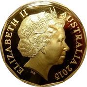 Australia 50 Cents 50th Anniversary of The Royal Australian Mint 2015 KM# 2191a ELIZABETH II AUSTRALIA 2015 coin obverse