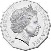 Australia 50 Cents AIATSIS 2014 KM# 2159 ELIZABETH II AUSTRALIA 2014 IRB coin obverse