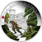 Australia 50 Cents ANZAC Spirit 100th Anniversary - Australia's First Action 2014 Proof 1914~AUSTRALIA'S FIRST ACTION P NM coin reverse