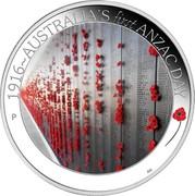 Australia 50 Cents ANZAC Spirit 100th Anniversary - Australia's First Anzac Day 2016 P 1916~AUSTRALIA'S FIRST ANZAC DAY P AH coin reverse