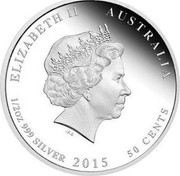 Australia 50 Cents ANZAC Spirit 100th Anniversary - Billies for the Troops 2015 Proof ELIZABETH II AUSTRALIA 1/2 OZ 999 SILVER 2015 50 CENTS IRB coin obverse