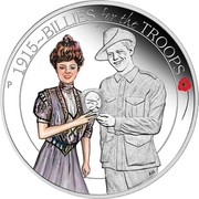 Australia 50 Cents ANZAC Spirit 100th Anniversary - Billies for the Troops 2015 Proof 1915~BILLIES FOR THE TROOPS P AH coin reverse