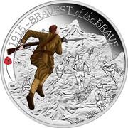 Australia 50 Cents ANZAC Spirit 100th Anniversary - Bravest of the Brave 2015 Proof 1915~BRAVEST OF THE BRAVE P WR coin reverse