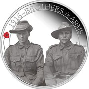 Australia 50 Cents ANZAC Spirit 100th Anniversary - Brothers in Arms 2016 P 1916~BROTHERS IN ARMS P WR coin reverse