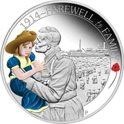 Australia 50 Cents ANZAC Spirit 100th Anniversary - Fareweel to Family 2014 Proof 1914~FAREWELL TO FAMILY P WR coin reverse