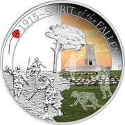 Australia 50 Cents ANZAC Spirit 100th Anniversary - Spirit of the Fallen 2015 Proof 1915~SPIRIT OF THE FALLEN P WR coin reverse