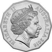 Australia 50 Cents Australia at War - Gulf Wars 2016  ELIZABETH II IRB AUSTRALIA 2016 coin obverse