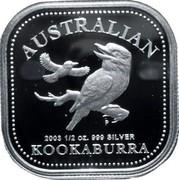 Australia 50 Cents Australian Kookaburra 2003 KM# 684 AUSTRALIAN KOOKABURRA 2003 1/2 OZ. 999 SILVER P coin reverse