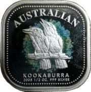 Australia 50 Cents Australian Kookaburra 2005 KM# 877 AUSTRALIAN KOOKABURRA 2005 1/2 OZ. 999 SILVER P coin reverse