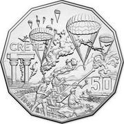 Australia 50 Cents Crete 2015 KM# 2190 CRETE 50 1941 coin reverse