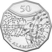 Australia 50 Cents El Alamein 2015  50 EL ALAMEIN 1942 coin reverse