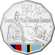 Australia 50 Cents Empire Air Training Scheme 2015 UNC 50 EMPIRE AIR TRAINING SCHEME coin reverse