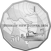 Australia 50 Cents German New Guinea 2014  GERMAN NEW GUINEA 1914 50 coin reverse