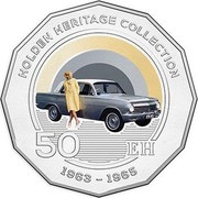 Australia 50 Cents Holden EH 2016  HOLDEN HERITAGE COLLECTION 50 EH 1963-1965 coin reverse