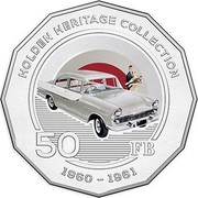Australia 50 Cents Holden FB 2016  HOLDEN HERITAGE COLLECTION 50 FB 1960-1961 coin reverse