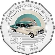 Australia 50 Cents Holden FC 2016  HOLDEN HERITAGE COLLECTION 50 FC 1958-1960 coin reverse