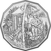 Australia 50 Cents Indonesian Confrontation 2016  50 INDONESIAN CONFRONTATION coin reverse