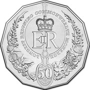 Australia 50 Cents Longest-Reigning Commonwealth Monarch 2015  LONGEST REIGNING COMMONWEALTH MONARCH EIIR 50 coin reverse