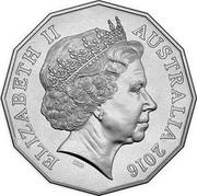 Australia 50 Cents Malayan Emergency 2016  ELIZABETH II AUSTRALIA 2016 IRB coin obverse