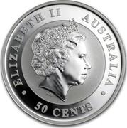 Australia 50 Cents Sleeping Koala 2012 KM# 1798 ELIZABETH II AUSTRALIA 50 CENTS IRB coin obverse