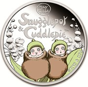 Australia 50 Cents Snugglepot and Cuddlepie 2016 SNUGGLEPOT & CUDDLEPIE™ MAY GIBBS ©TNS & CPA P coin reverse