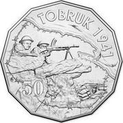 Australia 50 Cents Tobruk 2015  TOBRUK 1941 50 coin reverse