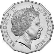 Australia 50 Cents Vietnam War 2016  ELIZABETH II IRB AUSTRALIA 2016 coin obverse