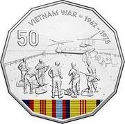Australia 50 Cents Vietnam War 2016  VIETNAM WAR ∙ 1962 - 1975 50 coin reverse